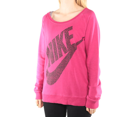 Nike - Pink Graphic Crewneck Sweatshirt - Medium