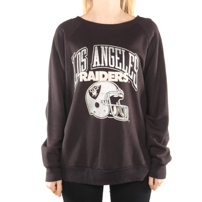 Champion - Black NFL Raiders Crewneck Sweatshirt - Large