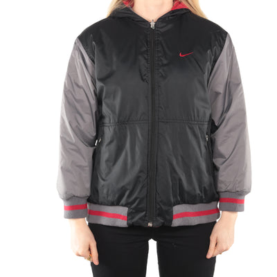 Nike - Grey and Red Embroidered Reversible Windbreaker- Medium