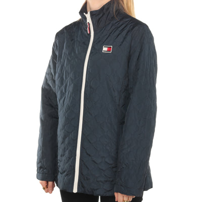 Tommy Hilfiger - Navy Patch Quilted Puffer Jacket - Large