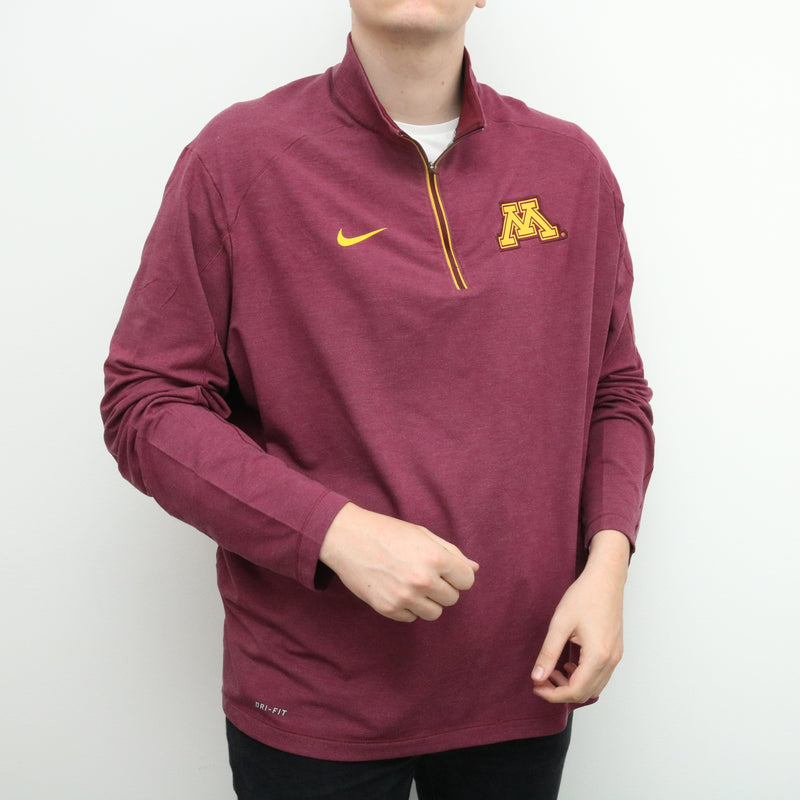 Nike - Maroon Quarter Zip Jumper - XXLarge