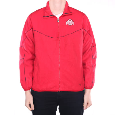 Nike - Red Embroidered Ohio State Fleece Jacket - Medium
