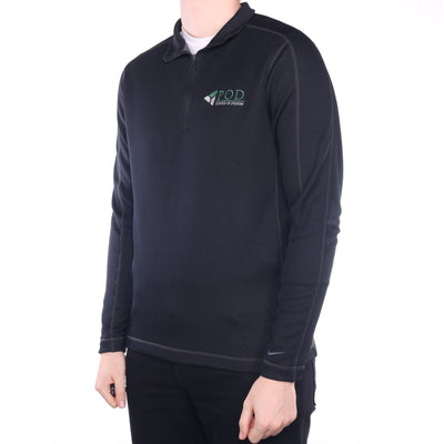 Nike - Black Embroidered Golf Quarter Zip Sweatshirt - Large