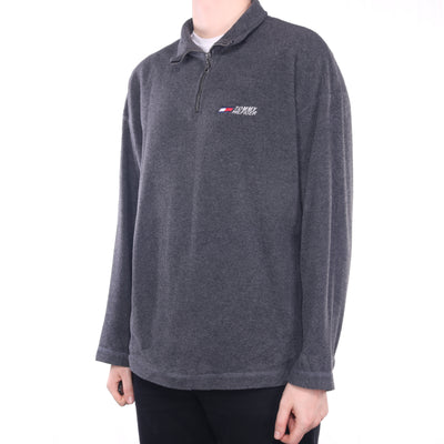Tommy Hilfiger - Grey Embroidered Quarter Zip Fleece - XLarge