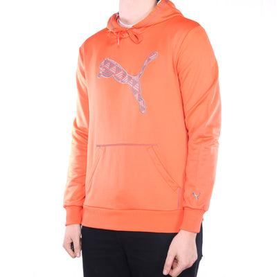 Puma - Orange Embroidered Hoodie - Large