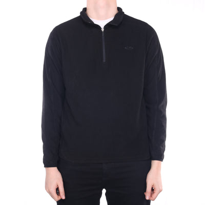 Champion - Black Embroidered Quarter Zip Fleece - Large