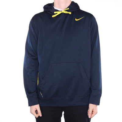 Nike - Black and Yellow Embroidered Hoodie - XLarge