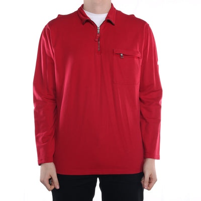 Nautica - Red Quarter Zip Sweatshirt - Large