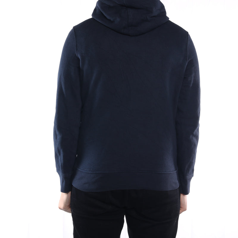 Levi's - Navy Embroidered Spellout Hoodie - Medium
