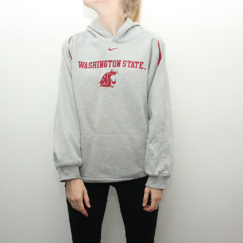 Nike - Grey Middle Swoosh Washington Hoodie - XLarge