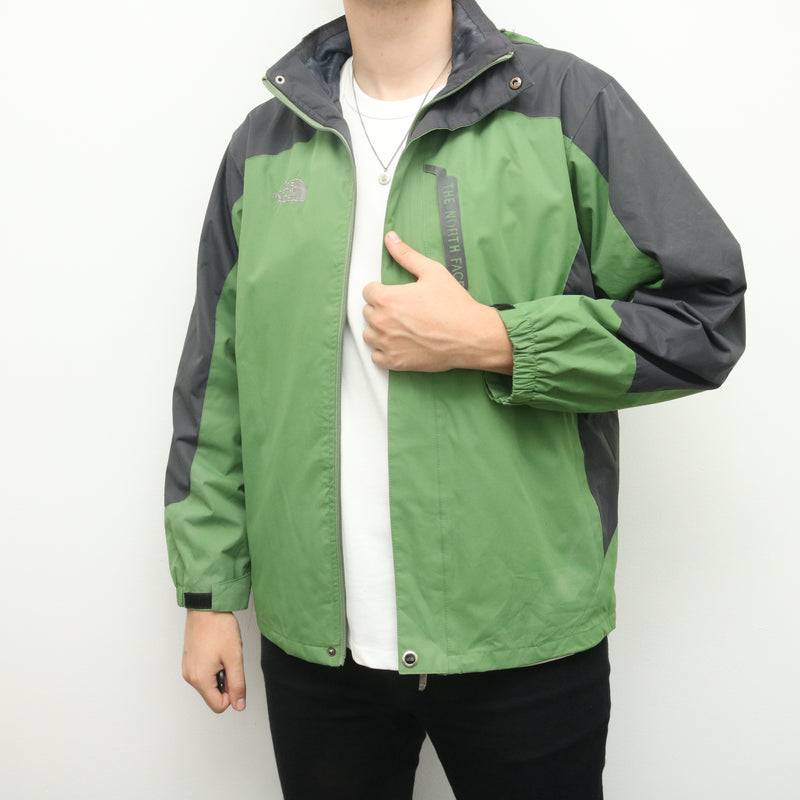 The North Face - Green and Grey Windbreaker With Hood - XXLarge
