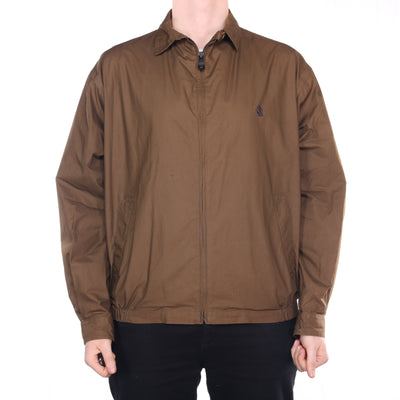Nautica - Brown Embroidered Harrington Jacket - XLarge