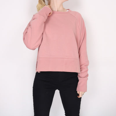 Nike -  Pink Embroidered Spellout Sweatshirt - Small