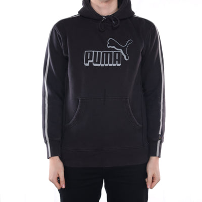 Puma - Black Spellout Hoodie - Large