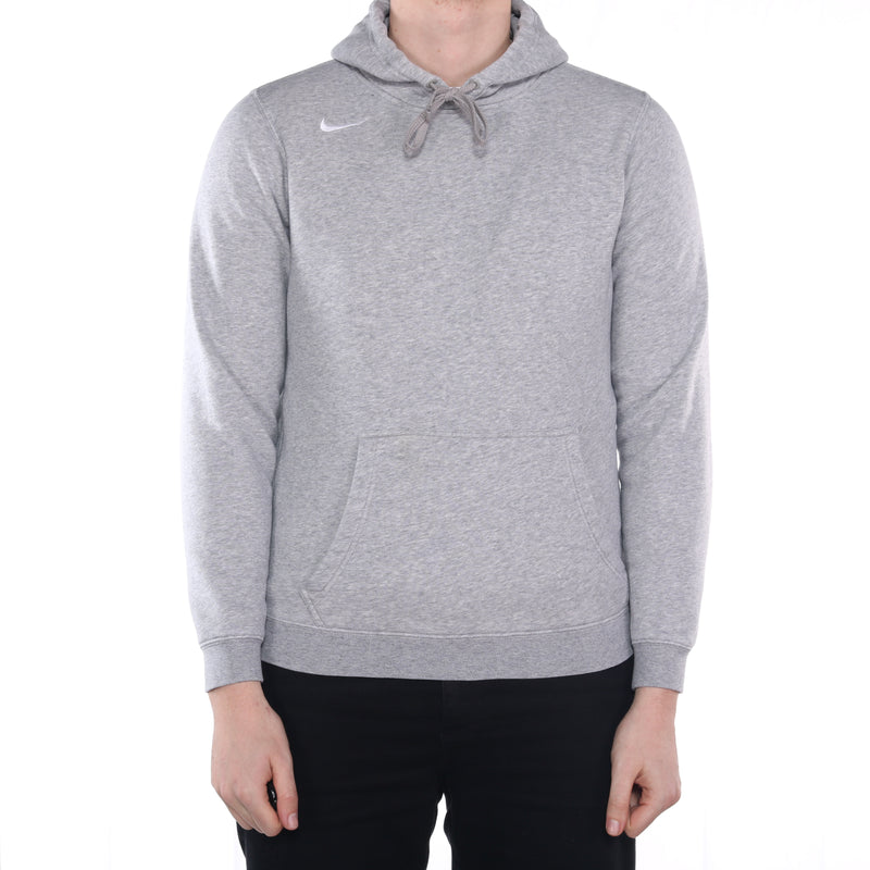 Nike - Grey Embroidered Single Stitch Hoodie - Small