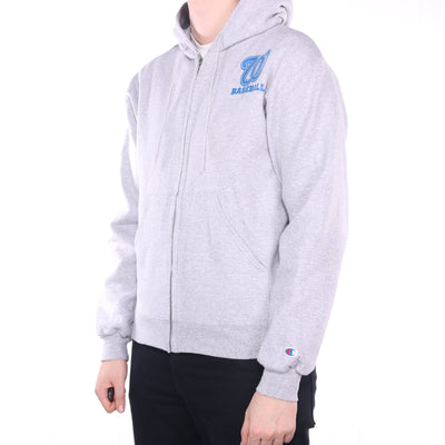 Champion - Grey Full Zip Baseball Hoodie - Medium