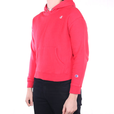 Champion - Red Single Stitch Reverse Weave Hoodie - Large