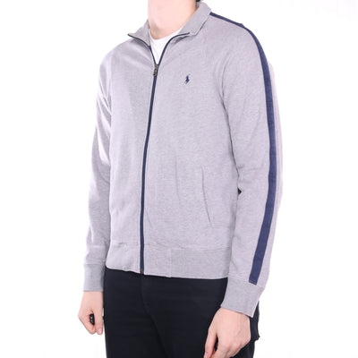 Ralph Lauren - Grey Embroidered Zipped Sweatshirt - Medium