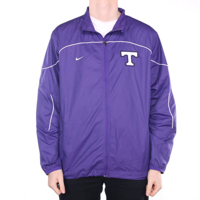 Nike - Purple Embroidered Zipped Windbreaker - Large