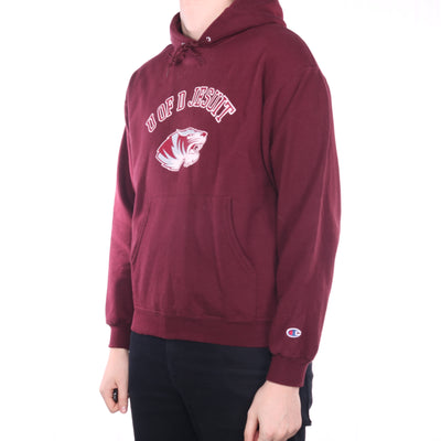 Champion - Burgundy College Hoodie - Large