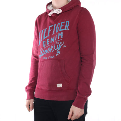 Tommy Hilfiger - Red Printed Hoodie - Large