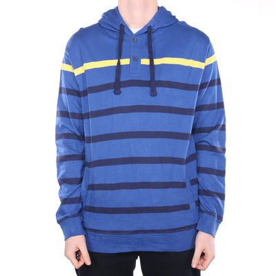 Ralph Lauren - Blue Chaps Button Up Hoodie - Large