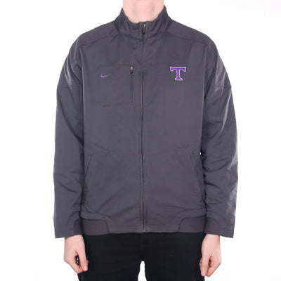 Nike - Grey Embroidered College Windbreaker - Large
