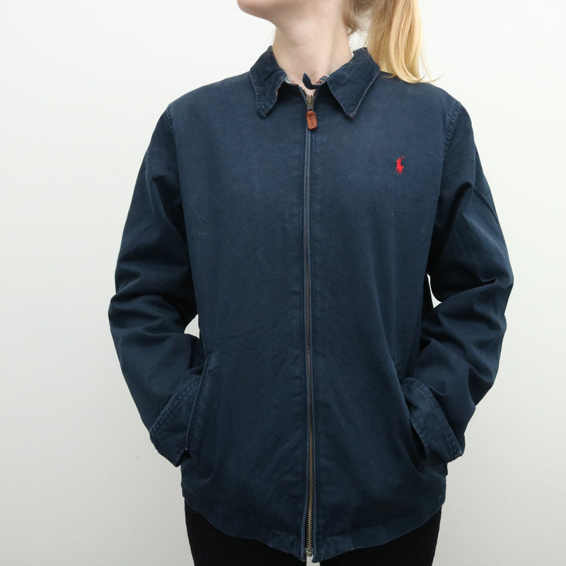 Ralph Lauren - Navy Embroidered Harrington Jacket - XLarge