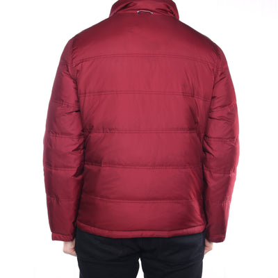 Tommy Hilfiger - Burgundy and Blue Reversible Puffer Jacket - Large