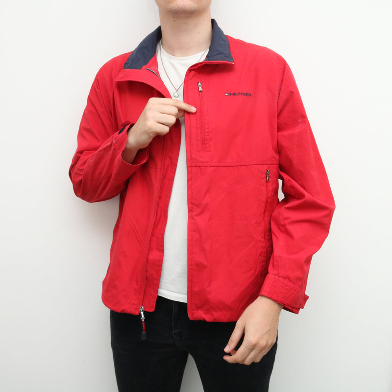 Tommy Hilfiger - Red Embroidered Windbreaker - Large