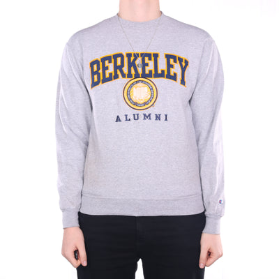 Champion - Grey Embroidered Crewneck Sweatshirt - Medium