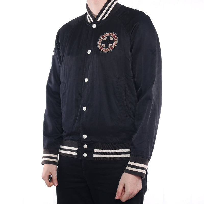 Ralph Lauren - Black Patched Bomber Jacket - Large