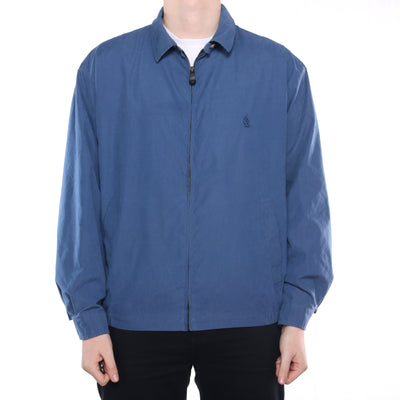 Nautica - Blue Embroidered Harrington Jacket - XLarge