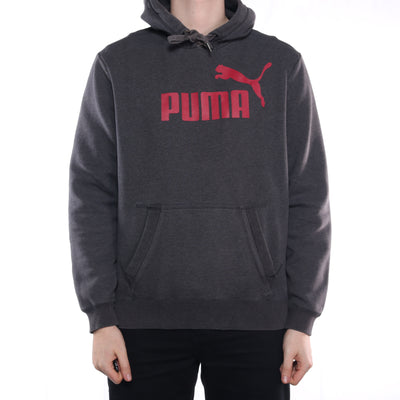 Puma - Grey Spellout Hoodie - XLarge