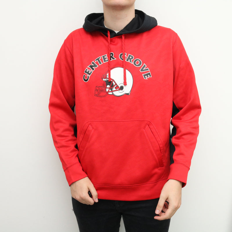 Nike - Red American Football Hoodie - XLarge