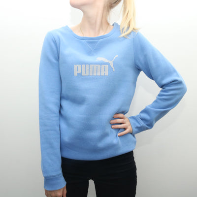 Puma - Blue Spellout Sweatshirt- Small