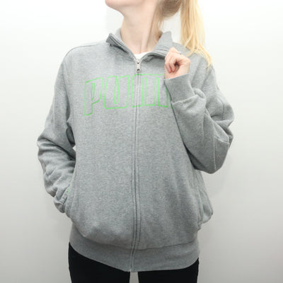 Puma - Grey Zip Up Jumper - Small