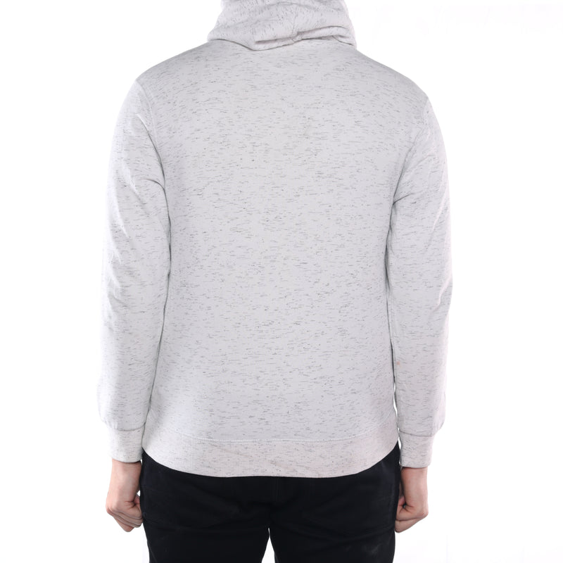Adidas - Grey Embroidered Spellout Hoodie - Small