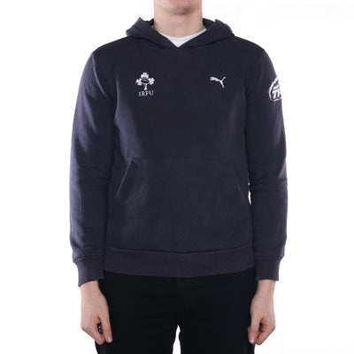 Puma - Blue Embroidered IRFU Hoodie - Small