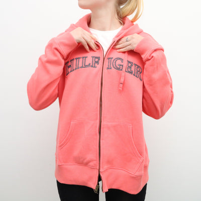 Tommy Hilfiger - Pink Embroidered Hoodie - XLarge