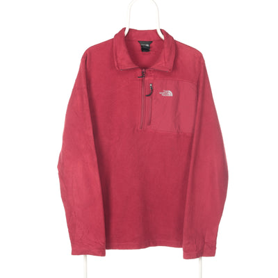 Red The North Face Quarter Zip Fleece - Large