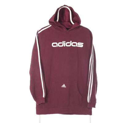 Red Adidas Middle Logo Hoodie - XLarge