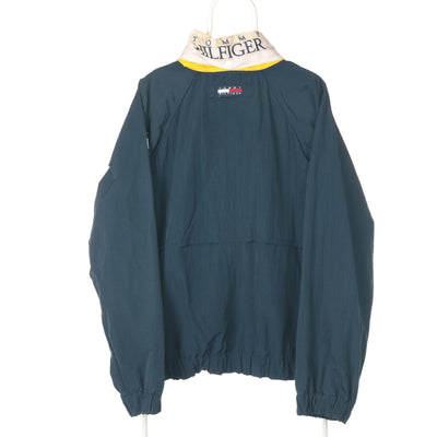 Navy Tommy Hilfiger Patched Arm Windbreaker - Large
