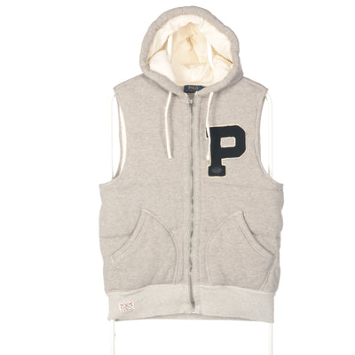 Grey Ralph Lauren Padded Hooded Gilet - Medium