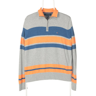 Grey Tommy Hilfiger Quarter Zip Jumper - Small