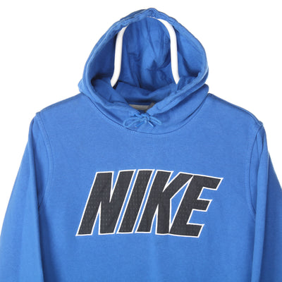 Blue Nike Spellout Hoodie - Small