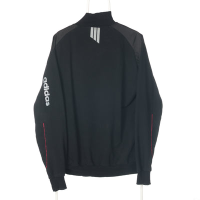 Black Adidas Zipped Sweatshirt - XXLarge