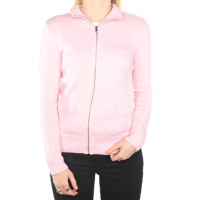 Ralph Lauren -  Pink Zip Up Jumper - Small