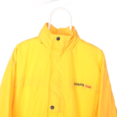Yellow Ralph Lauren Chaps Quarter Zip Windbreaker - Medium