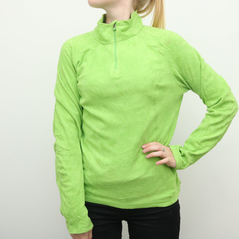 The North Face - Green Quarter Zip Fleece Jumper - Medium